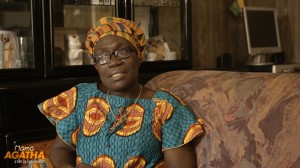 Mama Agatha from Amsterdam cycling course documentary at Home Speaking about her childhood in Ghana 2